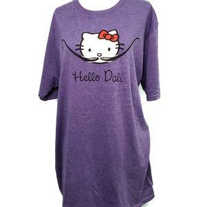 Hello Kitty Graphic T shirt Purple Size Large